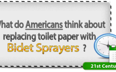 What do Americans think about replacing toilet paper with bidet sprayers?